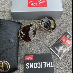 Ray-Ban 3025 Brown Aviator Sunglasses 58mm